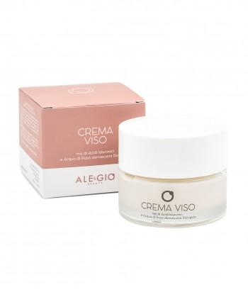 Crema Viso - Mix di acidi ialuronici e acqua di rosa damascena biologica