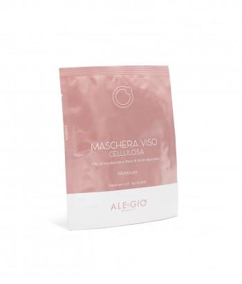 Maschera viso monouso - olio di macadamia e sfere di acido ialuronico